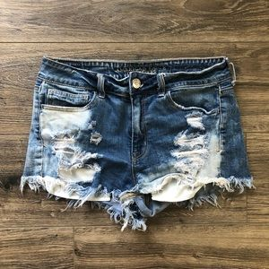American Eagle High Rise Distressed Short